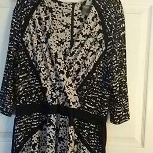 Black & off white dress